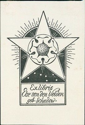 Else Von Den Velden (nee Schadow) Bookplate  JD.70