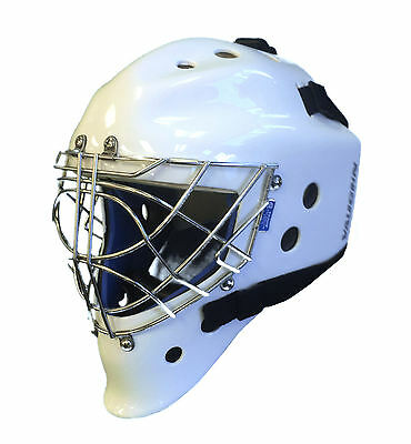 New Vaughn 9500 Sr Cat Eye goal mask white senior large ice hockey goalie helmet