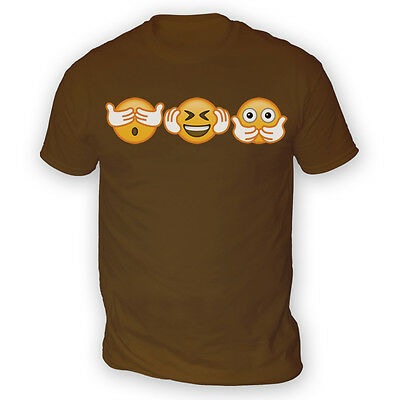 No Evil Emoji Mens T-Shirt -x13 Colours- Gift Funny Meme Idiom Smiley Emoticon