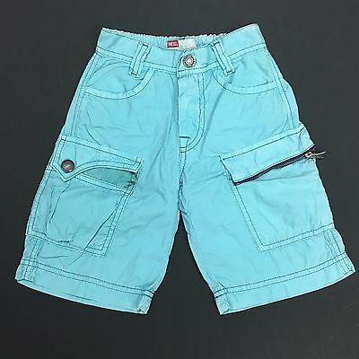 Boys Diesel Long Shorts Kids 3/4 Pants Pokko Light Blue Age 2-9 Years NEW