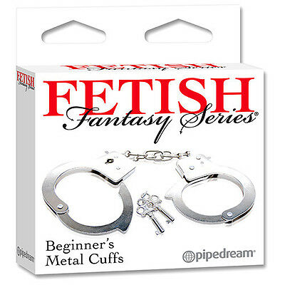 PD3800-00 PIPEDREAM Fetish Metal Cuffs Manette dell' Amore in Metallo Nikel Free