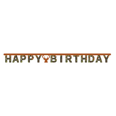 HUNTING CAMO Jointed BANNER Camouflage Birthday Party Supplies Decoration