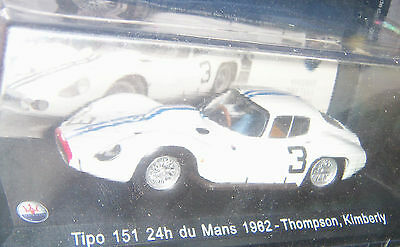 MASERATI Tipo 151 24h du Mans 1962 Thompson 1:43 BROCHURE BOX NEW