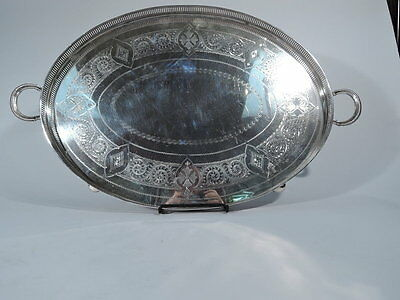 Victorian Tray - 53340 - Antique Aesthetic - English Sterling Silver - 1896