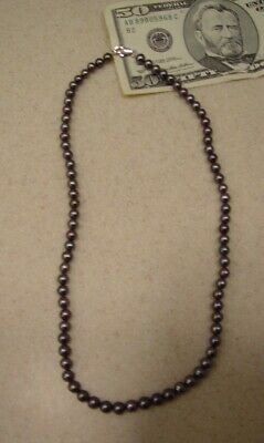Real BLACK PEARL Necklace BLOW OUT 15 Inch 7mm Jewelry GIFT SALE Pearls