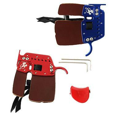 Leather Archery Finger Guards Tab Protector Right Hand for Hunting Bow Shooting