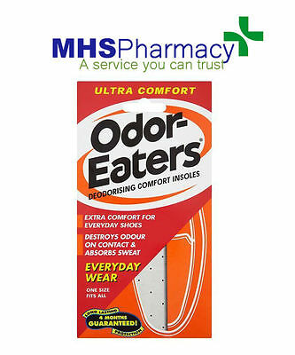 Odor-Eaters Ultra Comfort Deodorising Insoles - Everyday Wear Washable