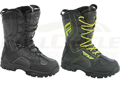 Fly Racing Marker Snowmobile Boots Waterproof Insulated Snow Reflective Trim