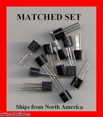 MATCHED SET 5 ea MPSA92 + MPSA42 HV Transistor HFE Select Motorola or Fairchild