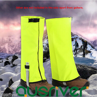 New Durable Waterproof Legging Gaiters Protective Leg Cover Hiking Climbing Snow