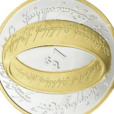 Gold Plated NEW ZEALAND LORD OF THE RINGS Commemorative Coin Collectible Set