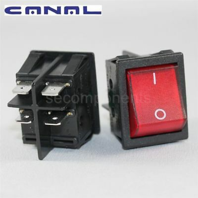 Canal R Series K7 Red Illuminated Rocker Switch Double Pole 20 A 16 A T125/55
