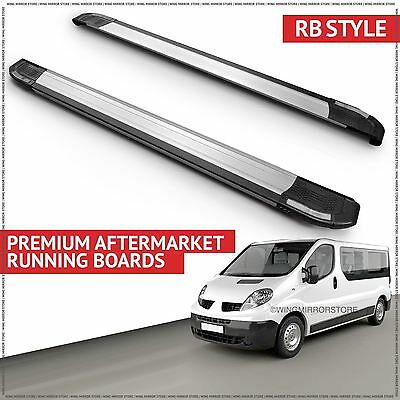 Running Boards Side Steps for Vauxhall (RB) Vivaro LWB 2001-2010