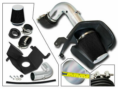 BCP BLACK 03-07 Dodge Ram 2500 3500 5.9L Diesel Heat Shield Cold Air Intake Kit