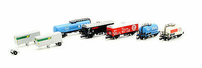 Marklin Z Gauge Rake Of 5 Freight Wagons Plus 1 Trailers (1A)