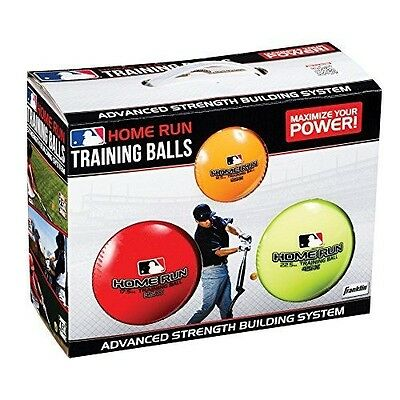 Franklin Sports MLB 3 Pack Training Balls - 370ml, 370ml, & 370ml