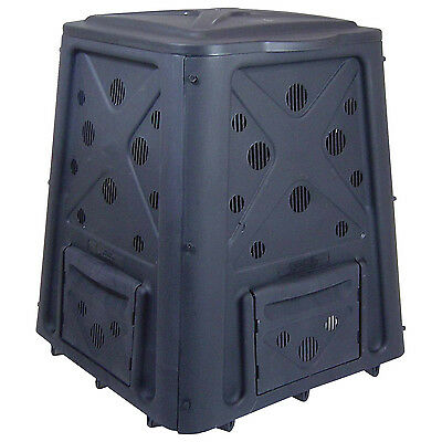 8.7 Cu Ft Culture Stationary Composter Supply Fresh Air Convenient snap On lid