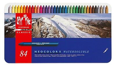 CARAN D'ACHE NEOCOLOR II TIN of 84 water soluble wax pastels