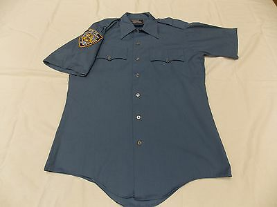 NYPD Obsolete 60's Vintage Five Star Uniform Short Sleeve Shirt Small