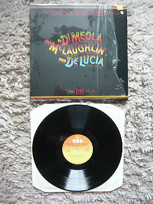 Al Di Meola John McLaughlin Paco De Lucia Friday Night In San Francisco Live LP