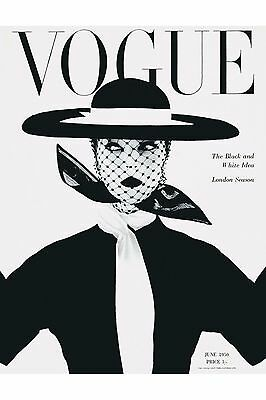 Home Wall Art Print - Vintage Retro Magazine Poster - VOGUE 1950 - A4,A3