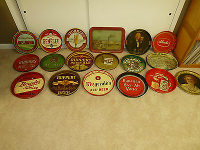 Beer Tray Collection 18 Trays Lot
