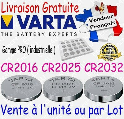 Piles VARTA Lithium 3V : CR2016 CR2025 CR2032 x 1 2 5 10 20 50 100 version BULK