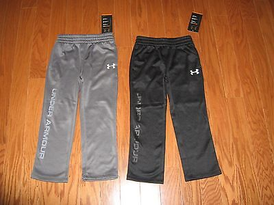 Under Armour BOYS ATHLETIC PANTS GRAPHITE WITH GRAY LOGO SIZE 4 /5/6/7 NWT