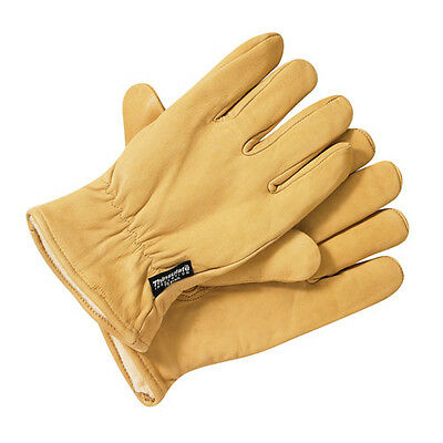 Dickies Lined Leather Gloves GL0200  Premium Thinsulate Tan Work Wear Glove