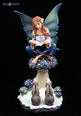 "Lisa Parker Statue Figurine: ""Winter Storyteller"" Snow Fairy with Book"