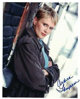 Andrea Thompson NYPD Blue autographed 8x10 photo with COA by CHA