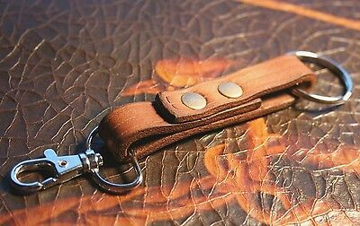 Leather Keychain - Handmade Key Ring - Made in USA -  Keys Holder Fob