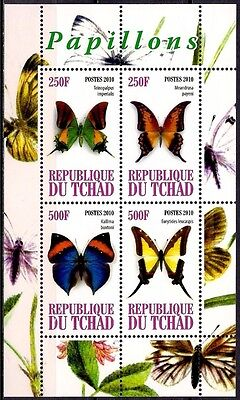 Chad/Tchad 2010 Butterflies/Butterfly Insects Nature m/s MNH