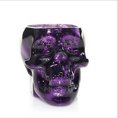 2016 Yankee Candle Halloween Perfect Potions Crystal Skull Purple T/L Holder NIB