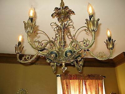 Antique Spanish Empire Ram Ornate Huge Chandelier Reasonable Offer Accepted