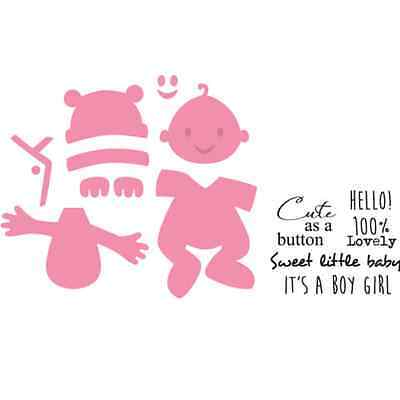 Marianne Design Collectables Cutting Dies & Clear Stamp Set - Baby - COL1387