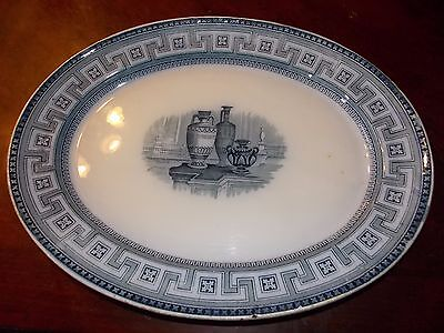 "Massive Very Early Etruscan Platter 18.25"" Flow Blue Rare Possible 18th Century!"