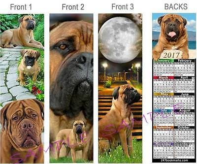 3-BULLMASTIFF Dog 2017 Calendar BOOKMARK Mastiff Book ART Card Figurine Ornament