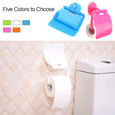 Toilet Bathroom Plastic Suction Cup Toilet Tissue Roll Paper Holder Fashion