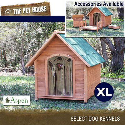 NEW Aspen Extra Large A-Frame Wooden Dog House Wood Timber XL Kennel
