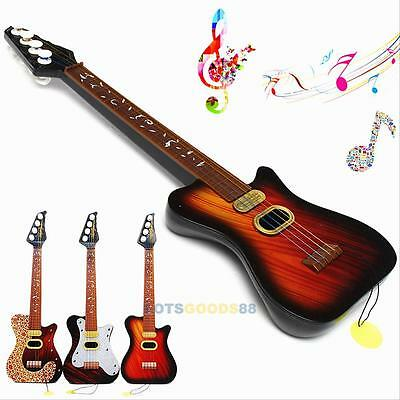 Kids Child Simulation Musical Instrument 4 String Little Mini Guitar Toy Gift