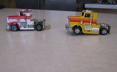 ( 2 ) Vintage HO Tyco Semi Tractors 1 HTF Lighted & 1 TCR Both Bench Tested
