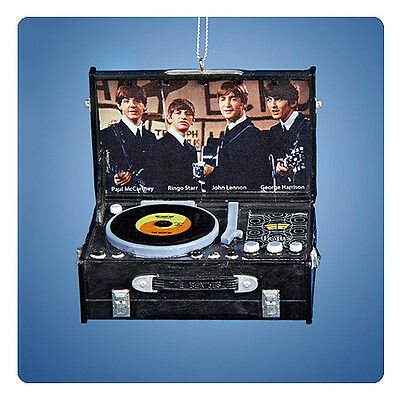 """The Beatles Official Retro Record Player 3-Inch Ornament """"she Loves You"""""""