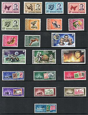 TOGO Stamp Collection majority  Unmounted Mint. 1960s 70sREF:QC721