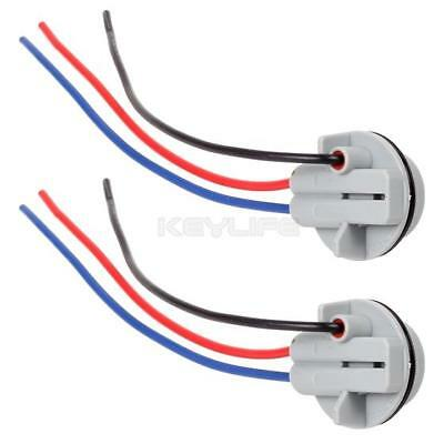 2 pcs 1157 1158 2057 2357 Adapter Wiring Harness Sockets For Tail Brake Light