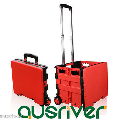 Brand New Portable Folding Collapsible Shopping Cart Trolley Case Luggage Market