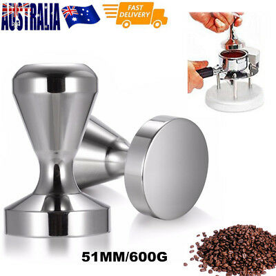 NEW 51MM/600G Polished Stainless Steel Coffee Tamper Tampa Tamp Espresso Barista