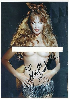 Autographe Arielle Dombasle Photo Tres Sexy Dedicacee  Signed Photo - Signiert