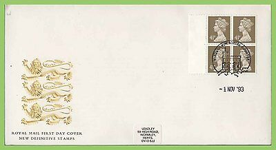 G.B. 1993 £1.64 (4 x 41p) booklet pane on Royal Mail First Day Cover, Windsor