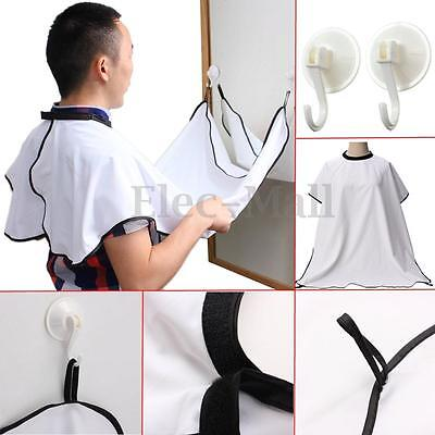 Gather Whiskers Cloth Bib Facial Hair Trimmings Catcher Cape Sink Beard Apron